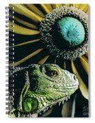 Iguana And Sunflower Spiral Notebook