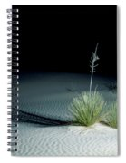 Illuminated Yucca At Night In White Sands National Monument, New Mexico - Newm500 00110 Spiral Notebook