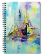 Illusive Boats Spiral Notebook