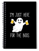 Im Just Here For The Boos Funny Halloween Spiral Notebook