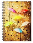 In Rainy Fashion Spiral Notebook