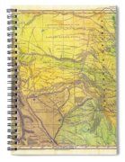 Indian Territory Tribal Map Northern Texas Spiral Notebook