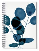 Indigo Eucalyptus 3- Art By Linda Woods Spiral Notebook