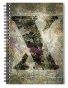 Industrial Letter X Spiral Notebook
