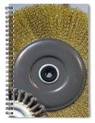Industrial Wire Brush Attachment Spiral Notebook