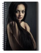 Innocent Young Woman Spiral Notebook