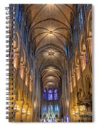 Interior Of Notre Dame De Paris Spiral Notebook