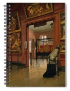 Interior View Of The Metropolitan Museum Of Art When In Fourteenth Street  Spiral Notebook