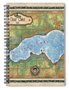 Iowa Clear Lake Custom Map Custom Map Art Spiral Notebook