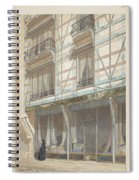 Iron Frame House With Glazed Earthenware  Spiral Notebook