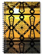 Iron Lattice Pattern St Malo Sunset Spiral Notebook