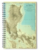 Island Of Luzon - Old Cartographic Map - Antique Maps Spiral Notebook
