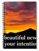 It's A Beautiful Day  What Is Your Intention For It Spiral Notebook