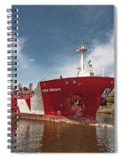Iver Bright Tanker On The Manistee River Spiral Notebook