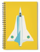 J35 Draken Swedish Air Force Jet Aircraft - Yellow Spiral Notebook