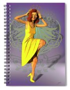 Jacinta In Yellow Spiral Notebook