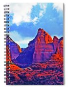 Jack's Canyon Village Of Oak Creek Arizona Sunset Red Rocks Blue Cloudy Sky 3152019 5080  Spiral Notebook