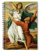 Jacob Wrestiling With The Angel  Spiral Notebook