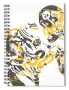 James Connor Pittsburgh Steelers Pixel Art 3 Spiral Notebook