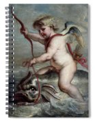 Jan Erasmus Quellinus / 'cupid On A Dolphin', Ca. 1630, Flemish School. Jan-erasmus Quellinus . Spiral Notebook