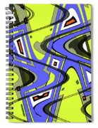Janca Yellow And Blue Wave Abstract, Spiral Notebook