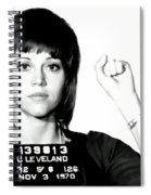 Jane Fonda Mug Shot Spiral Notebook