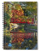 Japanese Garden Red Bridge Reflection Spiral Notebook