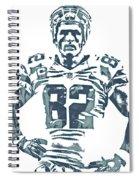 Jason Witten Dallas Cowboys Pixel Art 22 Spiral Notebook
