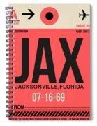 Jax Jacksonville Luggage Tag I Spiral Notebook