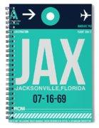 Jax Jacksonville Luggage Tag II Spiral Notebook