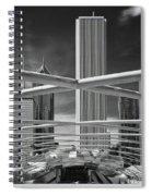 Jay Pritzker Pavilion Infrared Spiral Notebook