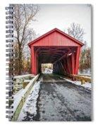 Jericho Covered Bridge Snow Spiral Notebook