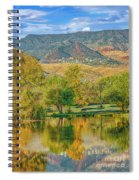 Jerome Reflected In Deadhorse Ranch Pond Spiral Notebook