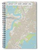 Jersey City New Jersey Us City Street Map Spiral Notebook