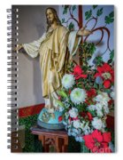 Jesus Christ With Flowers Spiral Notebook