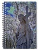Jesus Graveyard Statue Spiral Notebook
