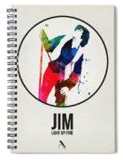 Jim Watercolor Poster Spiral Notebook