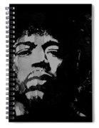 Jimi Hendrix - Retro Black  Spiral Notebook