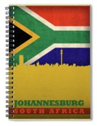 Johannesburg South Africa World City Flag Skyline Spiral Notebook