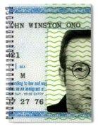 John Lennon Immigration Green Card 1976 Spiral Notebook
