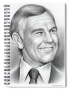 Johnny Carson 14sep18 Spiral Notebook