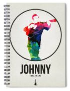 Johnny Cash Watercolor Spiral Notebook