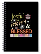 Joyful Merry Blessed Christmas Snowflakes Spiral Notebook