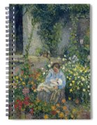 Julie And Ludovic-rodolphe Pissarro Among The Flowers, 1879 Spiral Notebook