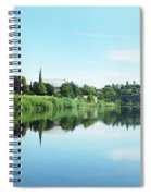 Junction Pool And View Of Tweed At Kelso Spiral Notebook