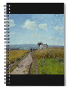 June Morning, View Over The Hills Over Pontoise, 1873 Spiral Notebook