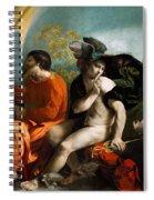 Jupiter  Mercury And Virtus Or Virgo  Spiral Notebook