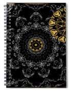 Kaleidoscope Moon For Children Gone Too Soon Number 2 - Faces And Flowers Spiral Notebook