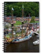 Kalmar Nyckel At Port Spiral Notebook