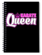 Karate Queen Cute Martial Arts Training Spiral Notebook